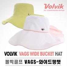 VAGS-WIDE BUCKET 와이드챙햇 자외선차단 모자 옐로우