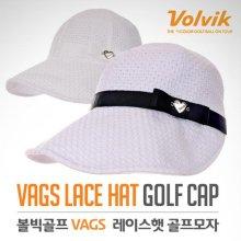 VAGS 레이스햇 여성용 와이드 골프모자 화이트