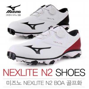 [2017년신제품]한국미즈노正品 NEXLITE N2 BOA 보아 골프화+미즈노신발주머니