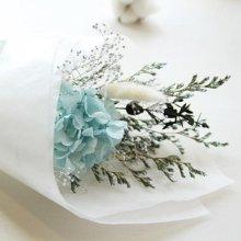 [프리저브드플라워] 블루수국 미니꽃다발