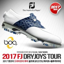 DRYJOYS TOUR (드라이조이 투어) 골프화 [53795/XW/화이트+블루게이터] [남성용] 240mm(xw)