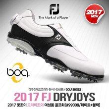 DRYJOYS (드라이조이) 보아 골프화 [99008/W/화이트+블랙] [여성용] 220mm