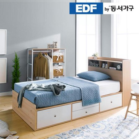 EDFby동서가구 루젠 수납헤드 깊은서랍 슈퍼싱글 침대(독립스프링) DFF3598H _메이플