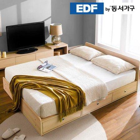 EDFby동서가구 루젠 깊은서랍 퀸 침대 프레임 DF636026 _메이플그레이 콤비