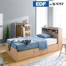 EDFby동서가구 루젠 수납헤드 깊은서랍 슈퍼싱글 침대 프레임 DFF3598F _메이플