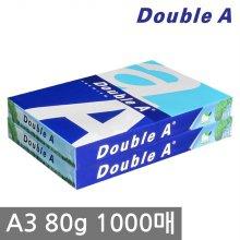 더블에이 A3 복사용지(A3용지) 80g 1000매(500매 2권)