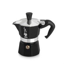 [이탈리아 국민 커피용품] 모카 에스프레소 커피메이커 1컵 (블랙) + 세척용커피