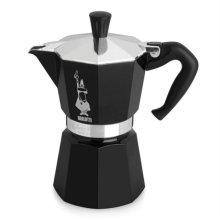 [이탈리아 국민 커피용품] 모카 에스프레소 커피메이커 6컵 (블랙) + 세척용커피