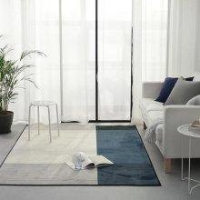 모던 스트라이프 러그 - 블루 반(100x150cm)