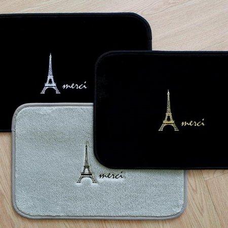 에펠탑 자수 발매트 블랙+골드