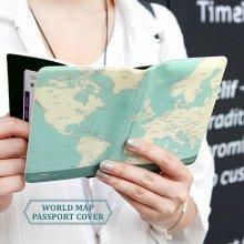인디고 월드맵 여권커버 [여권케이스/여행용품]