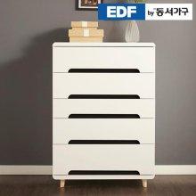 EDFby동서가구 유로밍 블랙콤비 5단 서랍장 DFF356IB