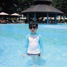 moris kids rash guard - White 래쉬가드 [수영복/아동수영복/아동상의] White:7호(4세)
