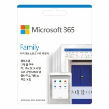 Microsoft 365 Family ESD [ 다운로드 전용 / 1년 구독, PC5대, 태블릿5대, 휴대폰5대 ]