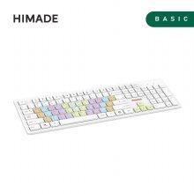 레인보우 키캡 유선키보드 HIMKB-U001 [12개 멀티미디어 키 / 고급 실리콘 키 스킨 제공]