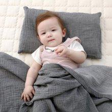 유아 이중직 거즈 블랭킷(아기이불)-네츄럴그레이