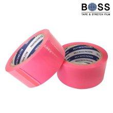 분홍색 박스테이프 중포장용(63MIC) 50M