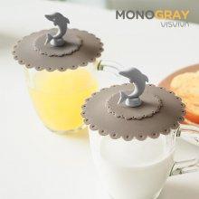 모노그레이 돌고래 컵덮개