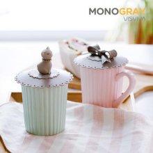 모노그레이 컵덮개 2종택1 리본