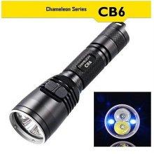 나이트코어 LED 후레쉬 CB6 블루색 전술 손전등