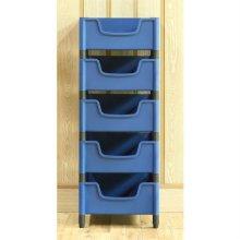 적층식 수납박스(5단)-블루-고정형