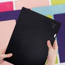 이널 AIRE L HOLDER A4 [파일홀더/파일포켓/화일케이스/문서보관/서류보관] indi pink