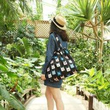 안테나샵 TROPICAL ISLAND BAG [패커블가방/쇼퍼백/여행가방/트래블백/비치백/숄더백] Ice cream
