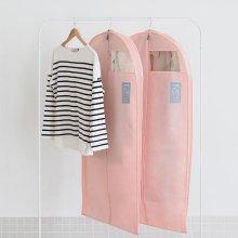 UIT 유니크 옷커버2p 아우터 [부직포커버/패딩커버/옷장정리/행거커버] Indi Pink