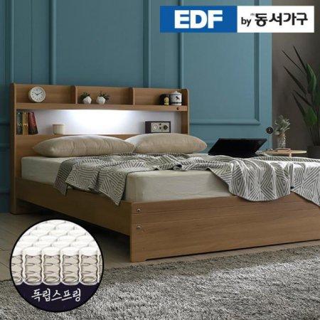 EDFby동서가구 라피 LED침대 슈퍼싱글 독립스프링 DF636468 _오크