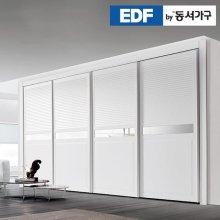 EDFby동서가구 시스템갤러리 미러 슬라이딩 붙박이장 10cm DF636574 _화이트 웜베이지
