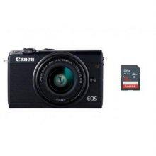 EOS-M100 미러리스 카메라 렌즈KIT[블랙][본체+15-45mm IS STM][16GB메모리+고래파우치]