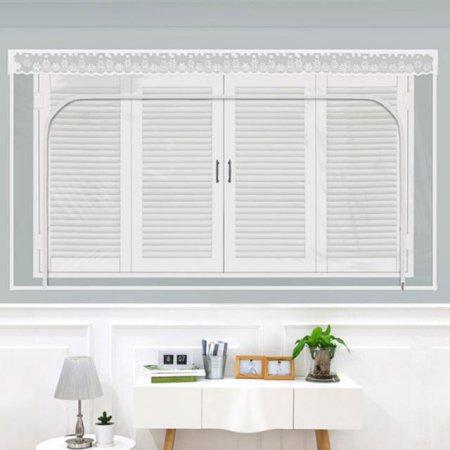 다샵 창문형지퍼식 방풍 바람막이 투명 200x165cm