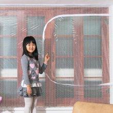 다샵 창문형지퍼식 방풍 바람막이 에어캡 300x120cm