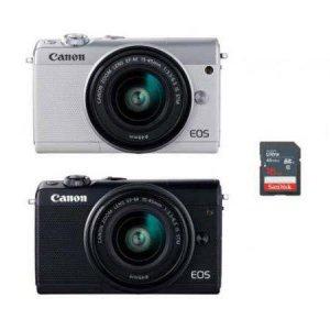[고래파우치+16GB메모리 증정] 미러리스 카메라 EOS-M100 (본품 + 15-45mm) [ 화이트/블랙 ]