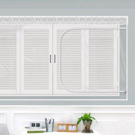 다샵 창문형지퍼식 방풍 바람막이 투명 180x150cm