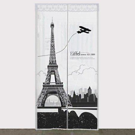 다샵 EVA일체형 방풍 바람막이 에펠탑 반투명 100x210cm
