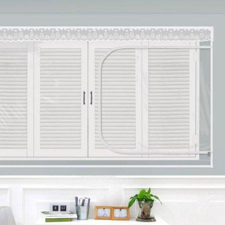 다샵 EVA창문형지퍼식 방풍 바람막이 투명 200x120cm