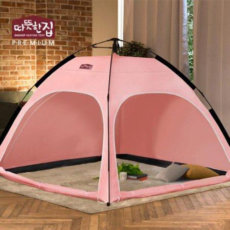다샵 따뜻한집 자동 난방텐트 핑크 4~5인용(210x210x150)