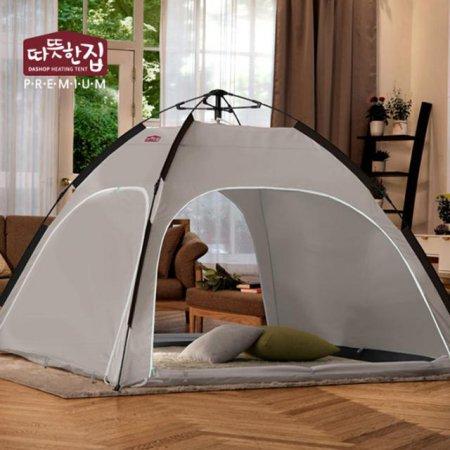 다샵 따뜻한집 자동 난방텐트 그레이 4~5인용(210x210x150)