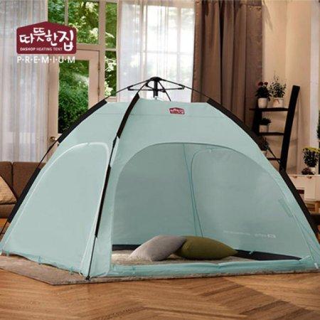 다샵 따뜻한집 자동 난방텐트 민트 2~3인용(210x150x135)