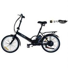 e-Run Bike 이런바이크 20인치 접이식 전동, 전기자전거 17년형_블랙