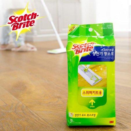 스위퍼(대형) 정전기 청소포-1 (30매) /거실 주방 욕실 청소 걸레