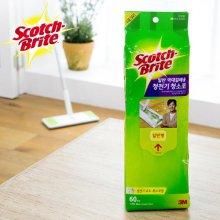 표준형 정전기 청소포-2 (60매) /거실 주방 욕실 청소 걸레