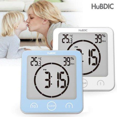 디지털 시계(온습도계/방수시계/욕실시계)HT-4 화이트
