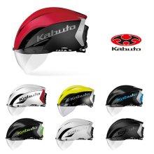 KABUTO AERO-R1 자전거 헬멧 _01_멧화이트 (S/M)
