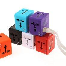 [트래블이지] 멀티플러그 큐브 USB 듀얼포트 NO.0454 화이트
