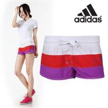 [QR코드인증]아디다스 여성 비치 숏츠 반바지/비치웨어/수영복/Beach Shorts-X13168 M