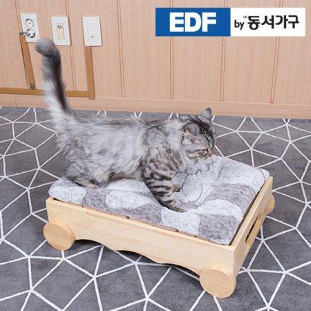 EDFby동서가구 펫츠펀 냥이멍이 소나무원목 침대(매트포함) DF636822 _내추럴