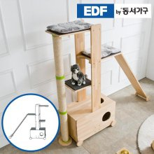 EDFby동서가구 펫츠펀 원목 캣타워 화장실형+슬로프 E형 DF636836 _내추럴