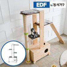 EDFby동서가구 펫츠펀 원목 캣타워 화장실형 A형 DF636832 _내추럴